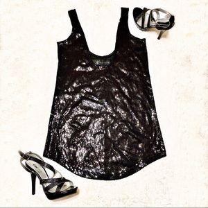 Kardashian Kollection Sequin Tunic Top